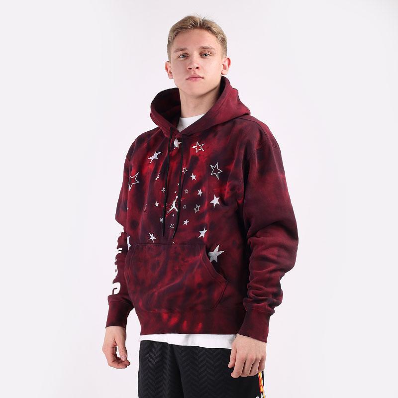 мужскую бордовую  толстовка jordan legacy aj6 graphic fleece pullover hoodie DD5225-010 - цена, описание, фото 1