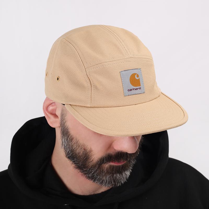 мужскую бежевую  кепка carhartt wip backley I016607-dusty/brwn - цена, описание, фото 1