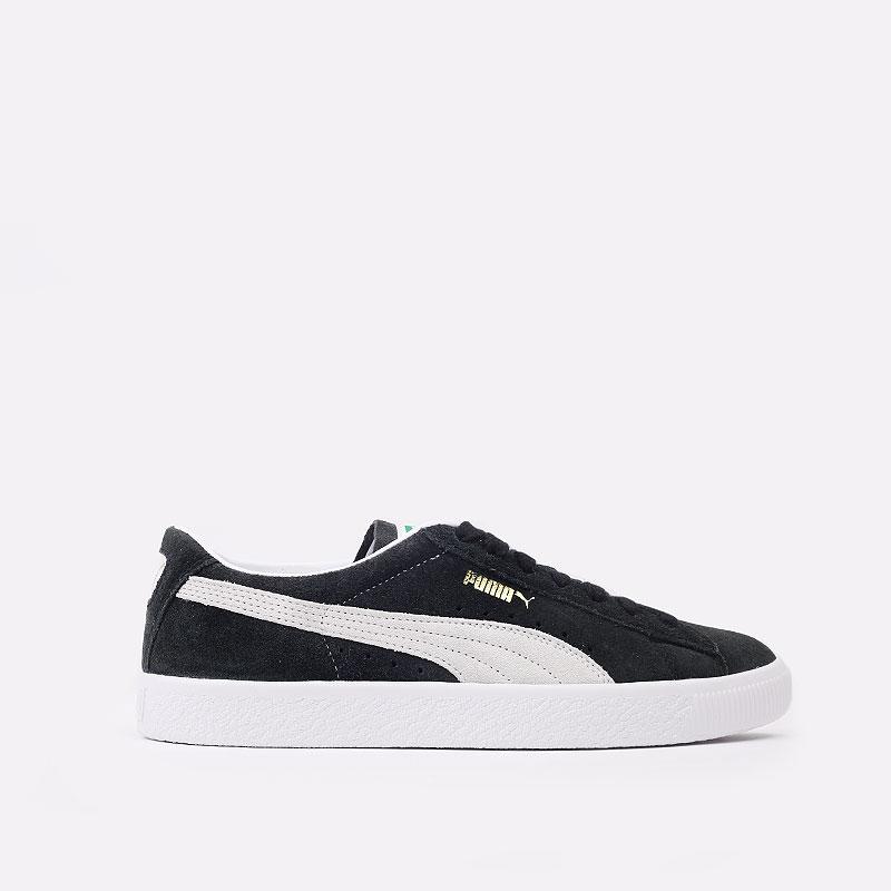 мужские черные  кроссовки puma suede vtg 37492105 - цена, описание, фото 1