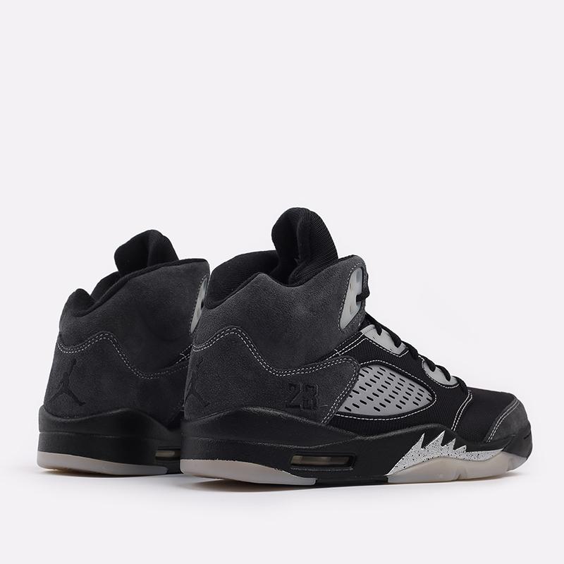 мужские чёрные  кроссовки jordan 5 retro DB0731-001 - цена, описание, фото 3