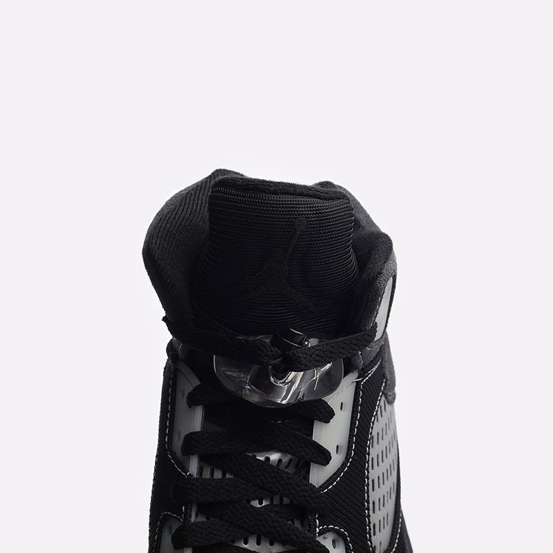 мужские чёрные  кроссовки jordan 5 retro DB0731-001 - цена, описание, фото 5