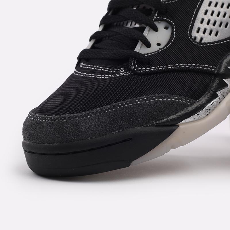 мужские чёрные  кроссовки jordan 5 retro DB0731-001 - цена, описание, фото 7