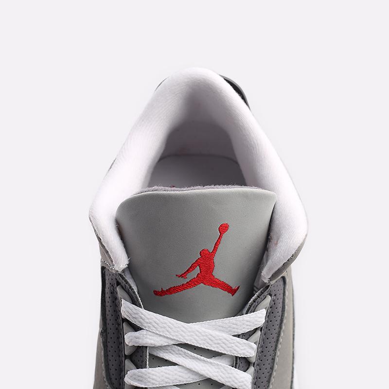 мужские серые  кроссовки jordan 3 retro CT8532-012 - цена, описание, фото 8