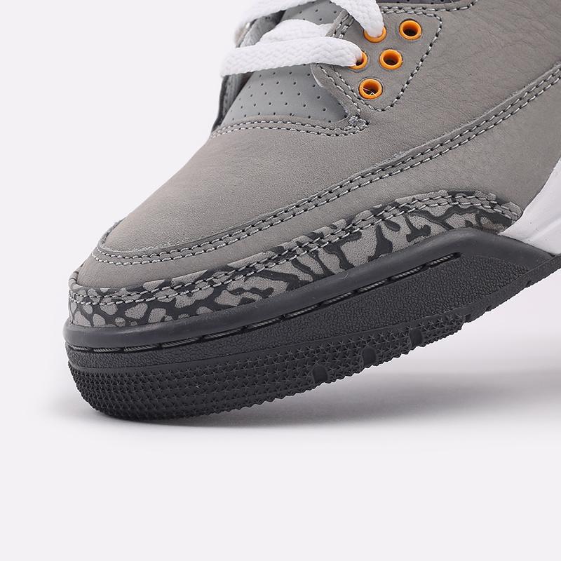 мужские серые  кроссовки jordan 3 retro CT8532-012 - цена, описание, фото 6