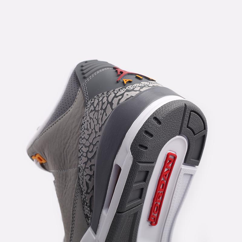 мужские серые  кроссовки jordan 3 retro CT8532-012 - цена, описание, фото 7