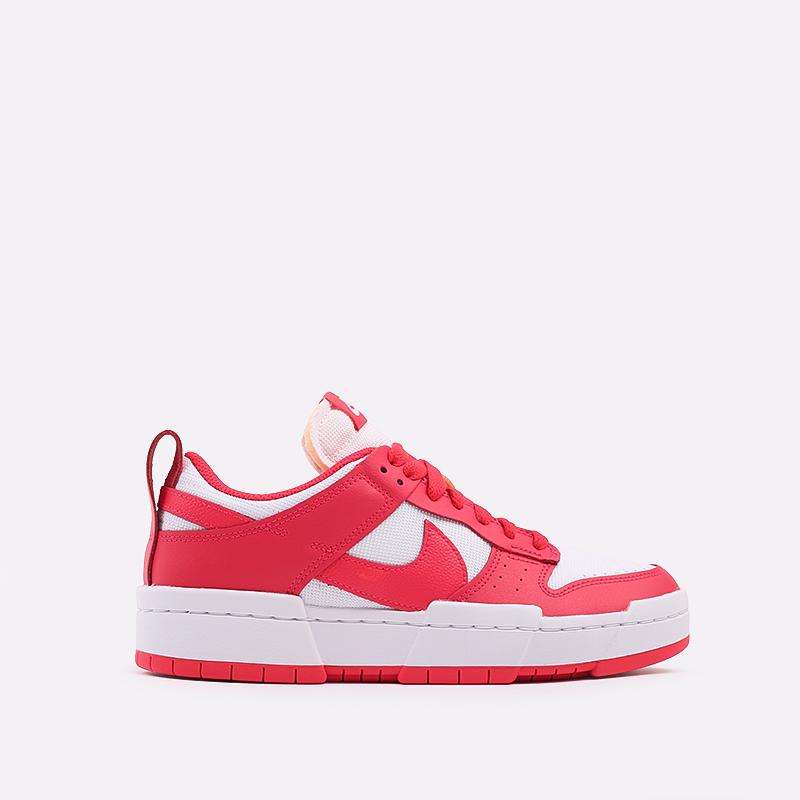 женские красные, белые  кроссовки nike wmns dunk low disrupt CK6654-601 - цена, описание, фото 1