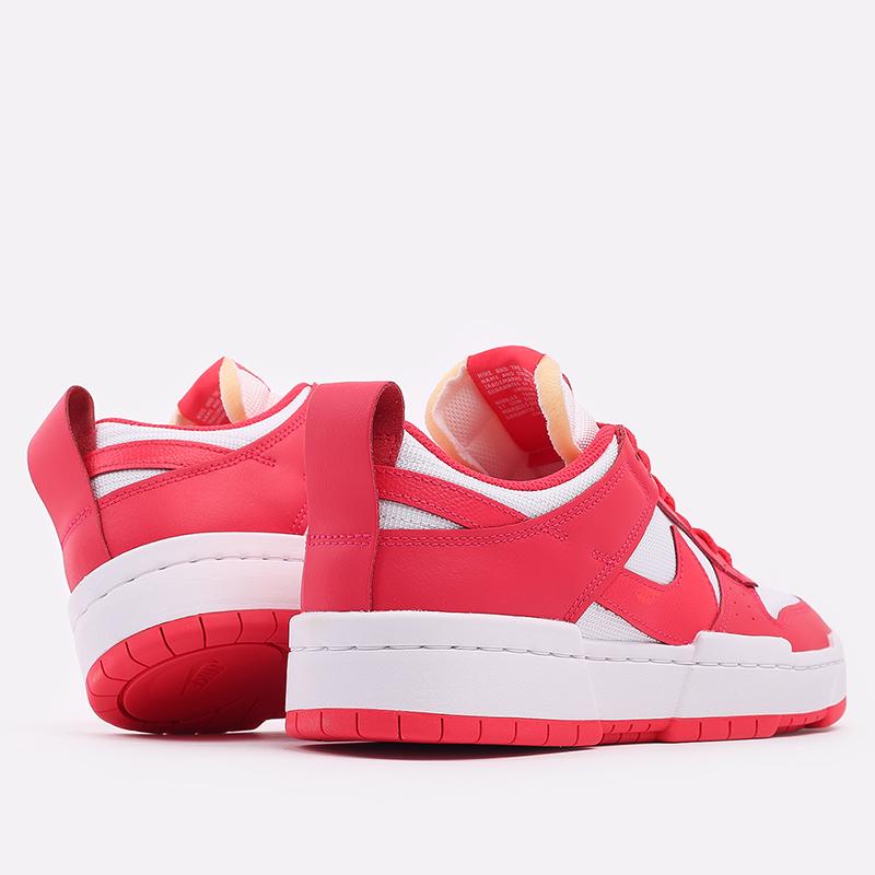 женские красные, белые  кроссовки nike wmns dunk low disrupt CK6654-601 - цена, описание, фото 3