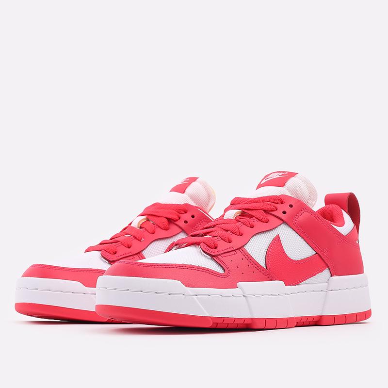 женские красные, белые  кроссовки nike wmns dunk low disrupt CK6654-601 - цена, описание, фото 2