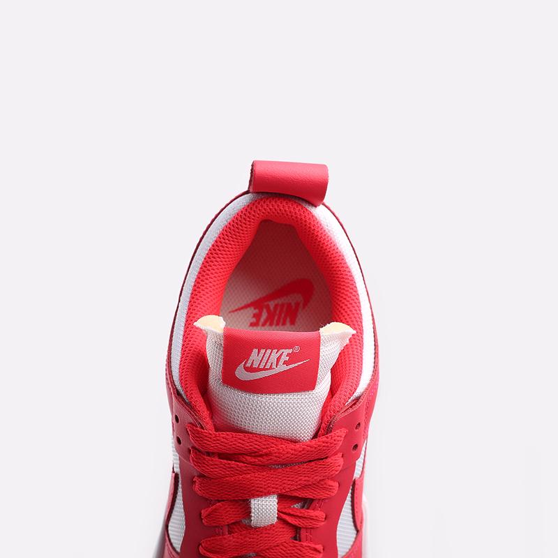 женские красные, белые  кроссовки nike wmns dunk low disrupt CK6654-601 - цена, описание, фото 7