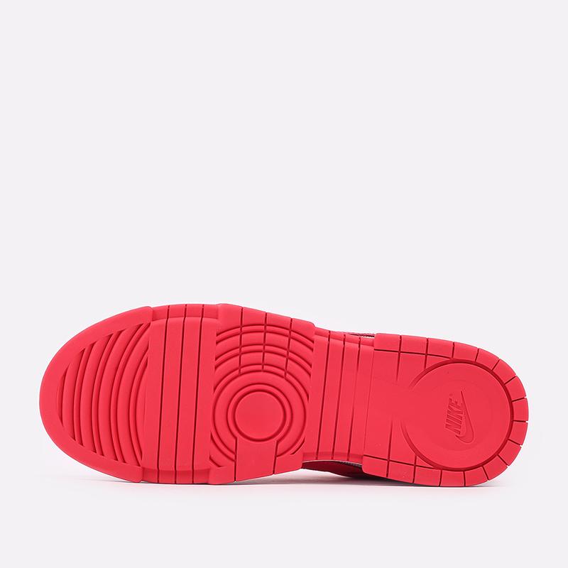 женские красные, белые  кроссовки nike wmns dunk low disrupt CK6654-601 - цена, описание, фото 4