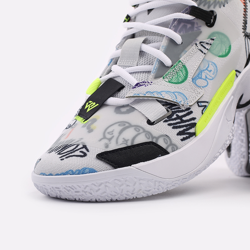 мужские белые  кроссовки jordan why not zero.4 DD4887-007 - цена, описание, фото 6
