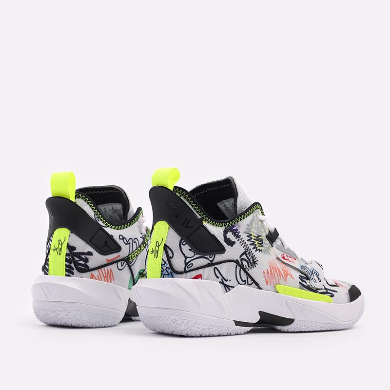 мужские белые  кроссовки jordan why not zero.4 DD4887-007 - цена, описание, фото 3
