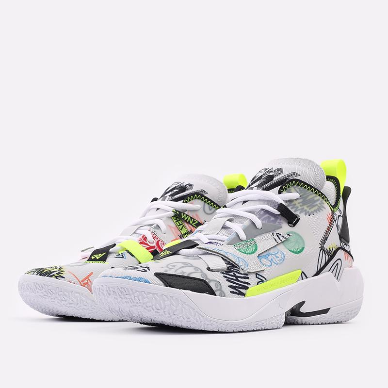 мужские белые  кроссовки jordan why not zero.4 DD4887-007 - цена, описание, фото 2