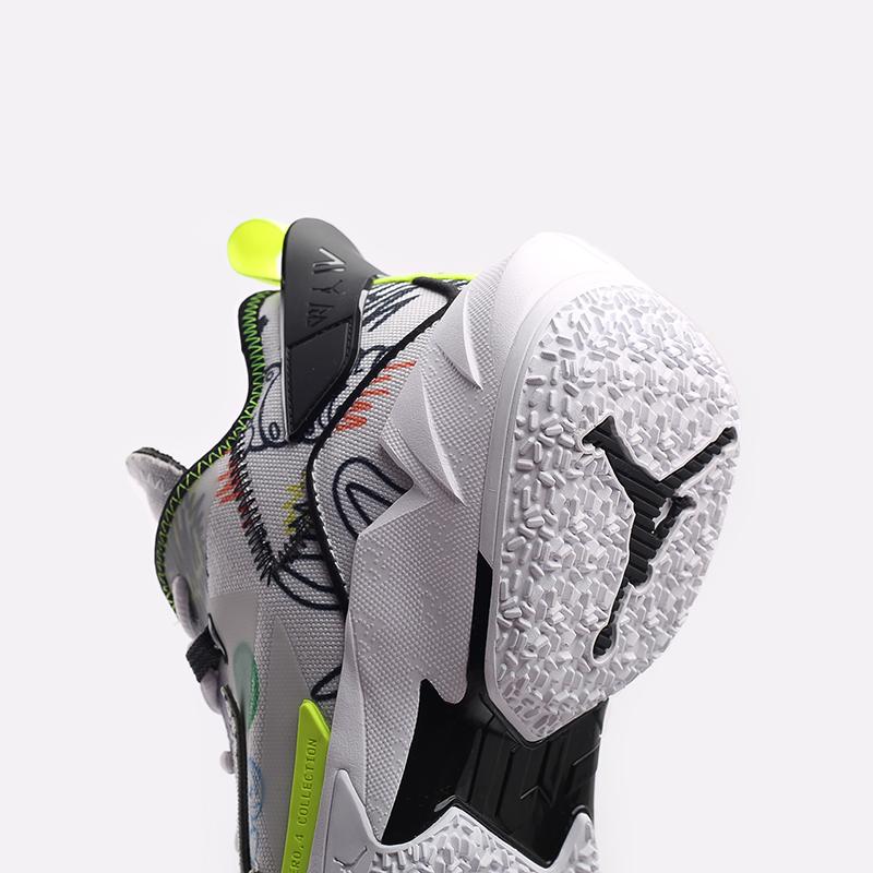мужские белые  кроссовки jordan why not zero.4 DD4887-007 - цена, описание, фото 7