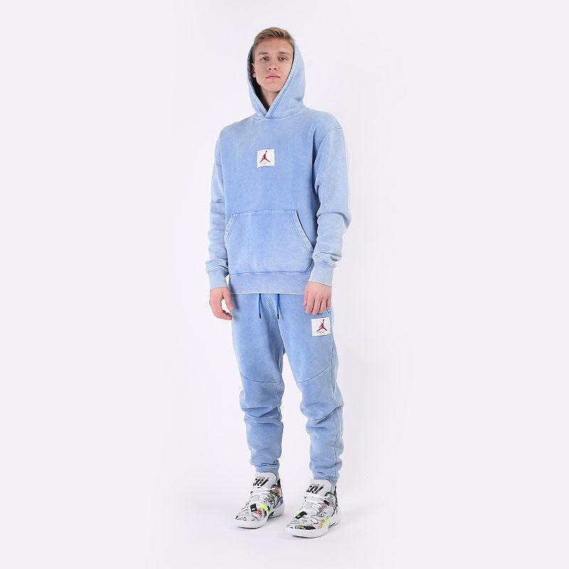 мужские голубые  брюки jordan flight fleece pant CK6470-403 - цена, описание, фото 8