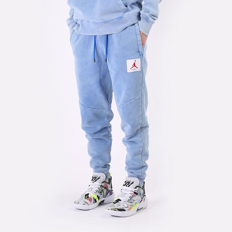 мужские голубые  брюки jordan flight fleece pant CK6470-403 - цена, описание, фото 1