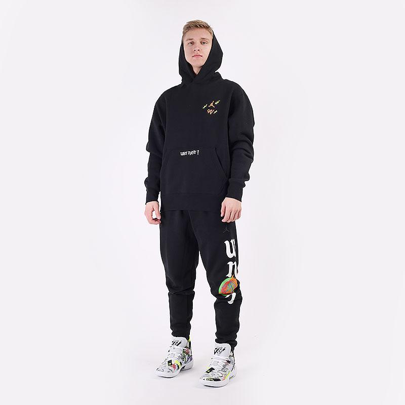 мужские черные  брюки jordan 'why not?' fleece trousers DD3329-010 - цена, описание, фото 8