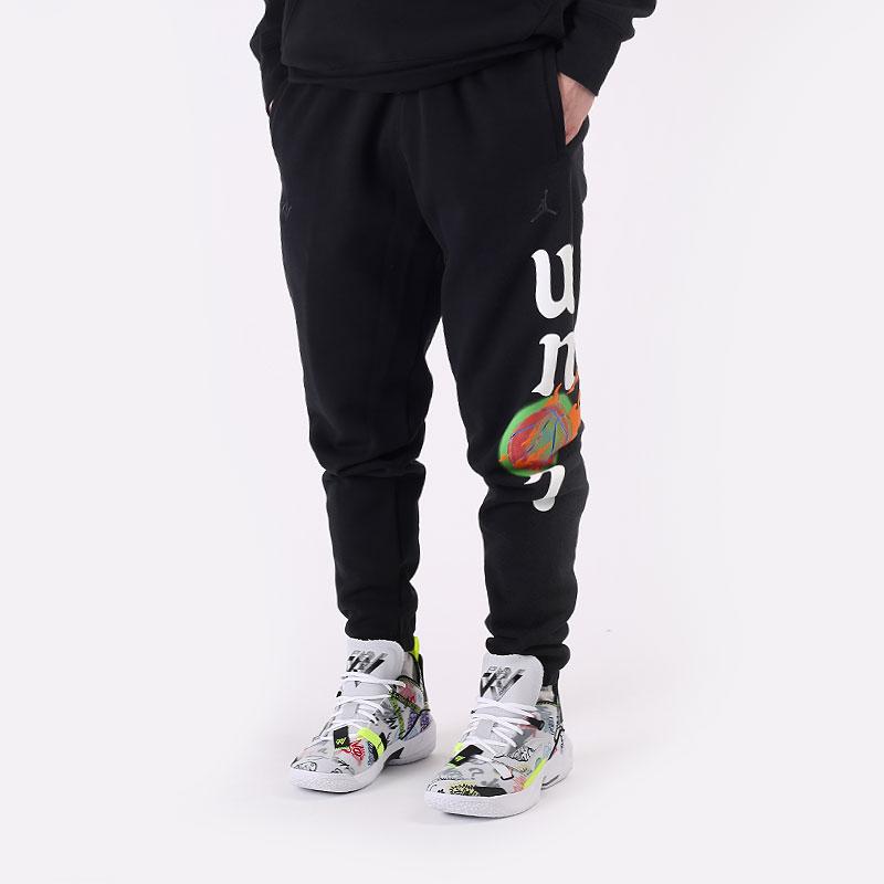 мужские черные  брюки jordan 'why not?' fleece trousers DD3329-010 - цена, описание, фото 1