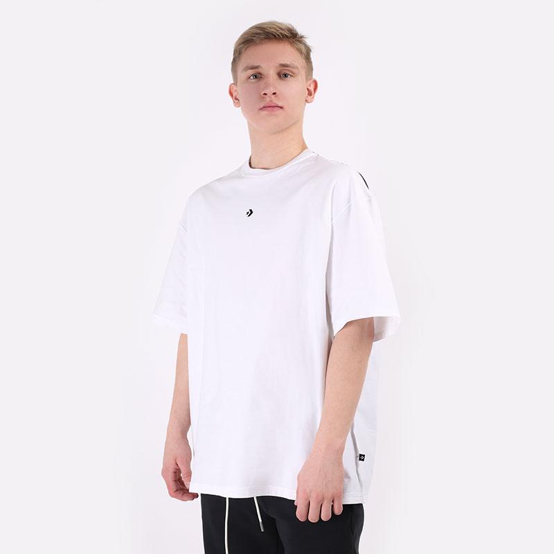 мужскую белую  футболка converse tee explore basketball 10020975102 - цена, описание, фото 1