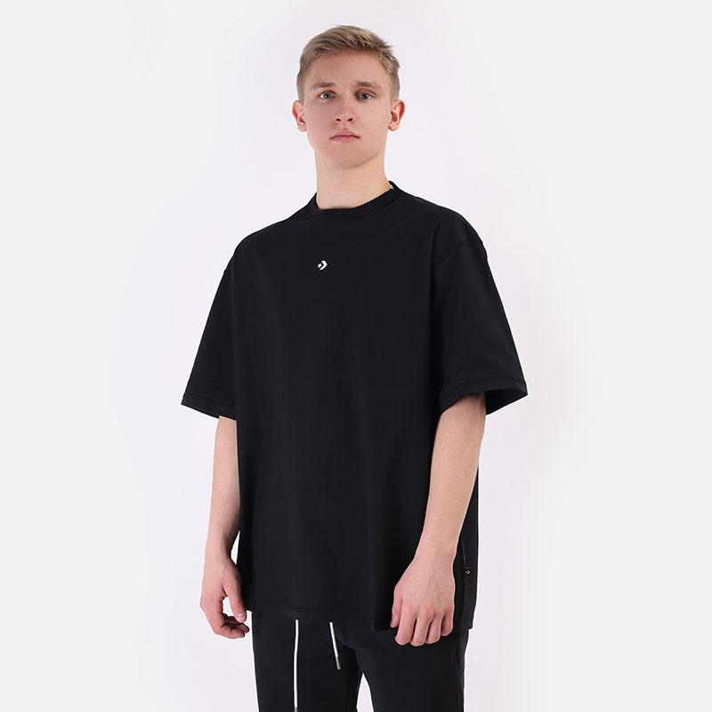 мужскую черную  футболка converse tee explore basketball 10020975001 - цена, описание, фото 1