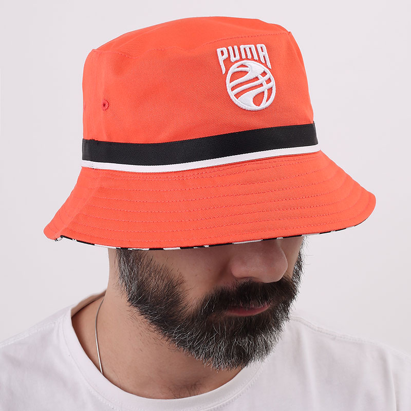 розовую  панама puma basketball bucket hat 02338102-fiery coral - цена, описание, фото 1