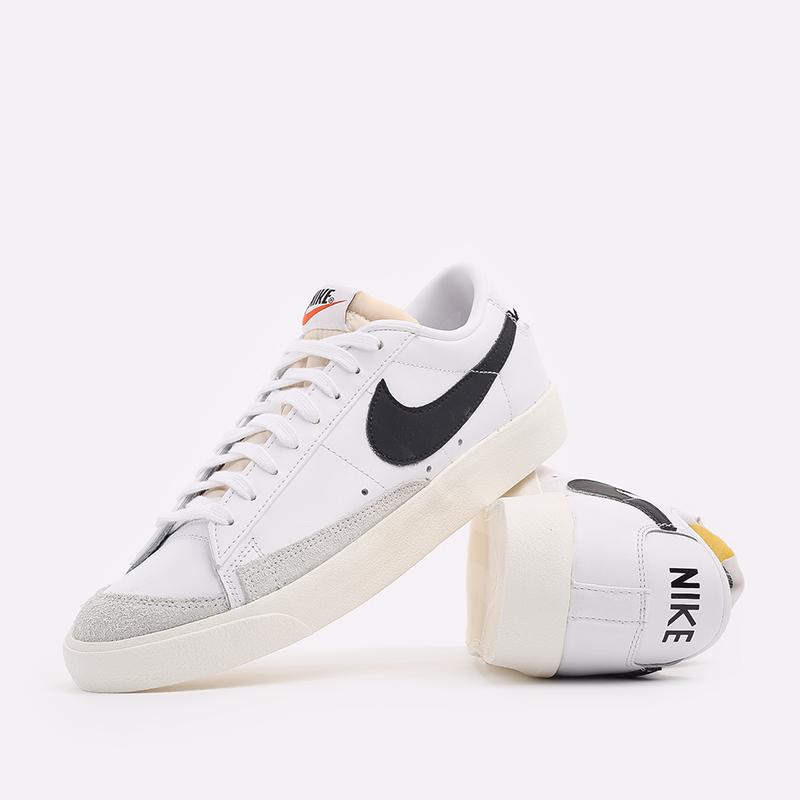мужские белые  кроссовки nike blazer low '77 vntg DA6364-101 - цена, описание, фото 5