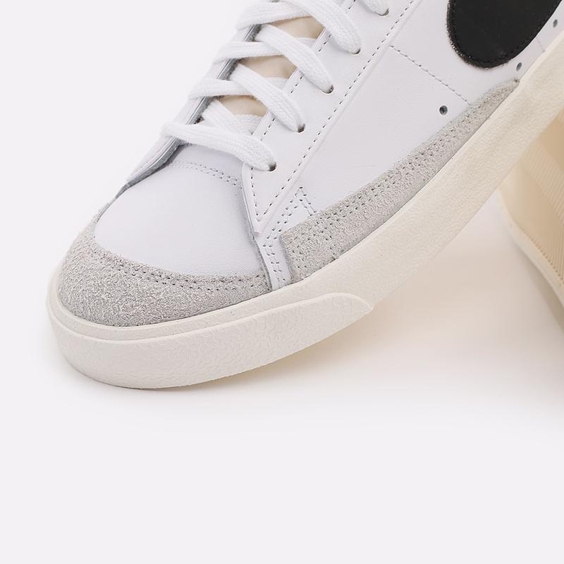 мужские белые  кроссовки nike blazer low '77 vntg DA6364-101 - цена, описание, фото 6