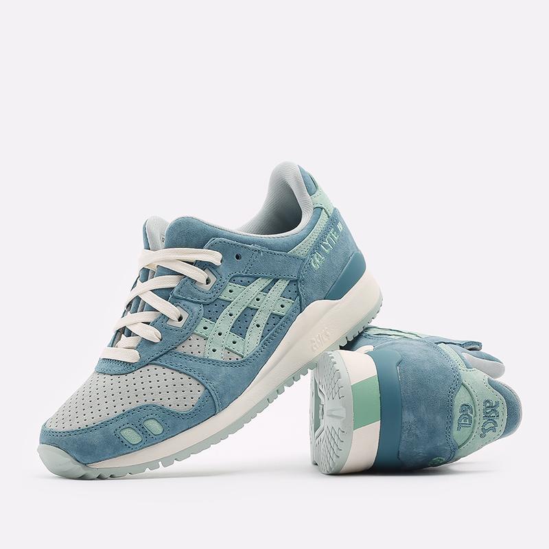 синие  кроссовки asics gel-lyte iii og 1201A164-300 - цена, описание, фото 5
