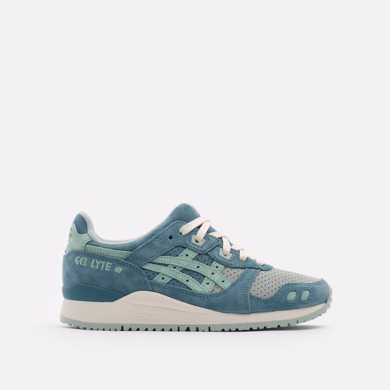 синие  кроссовки asics gel-lyte iii og 1201A164-300 - цена, описание, фото 1