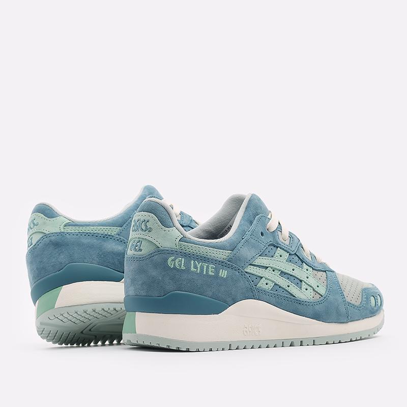 синие  кроссовки asics gel-lyte iii og 1201A164-300 - цена, описание, фото 3