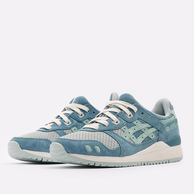 синие  кроссовки asics gel-lyte iii og 1201A164-300 - цена, описание, фото 2