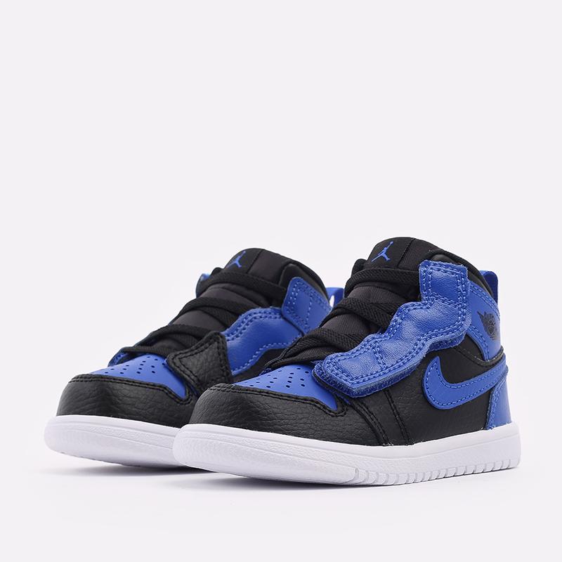 детские синие, чёрные  кроссовки jordan 1 mid alt (td) AR6352-077 - цена, описание, фото 2