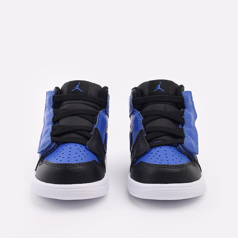 детские синие, чёрные  кроссовки jordan 1 mid alt (td) AR6352-077 - цена, описание, фото 4