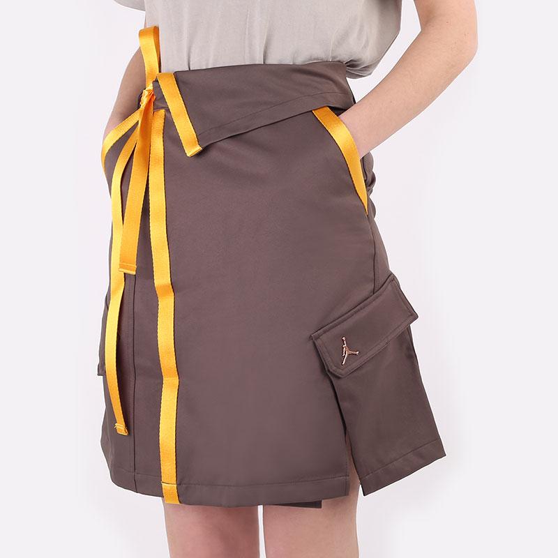женскую коричневую  юбка jordan future primal women's utility skirt DA4588-041 - цена, описание, фото 1