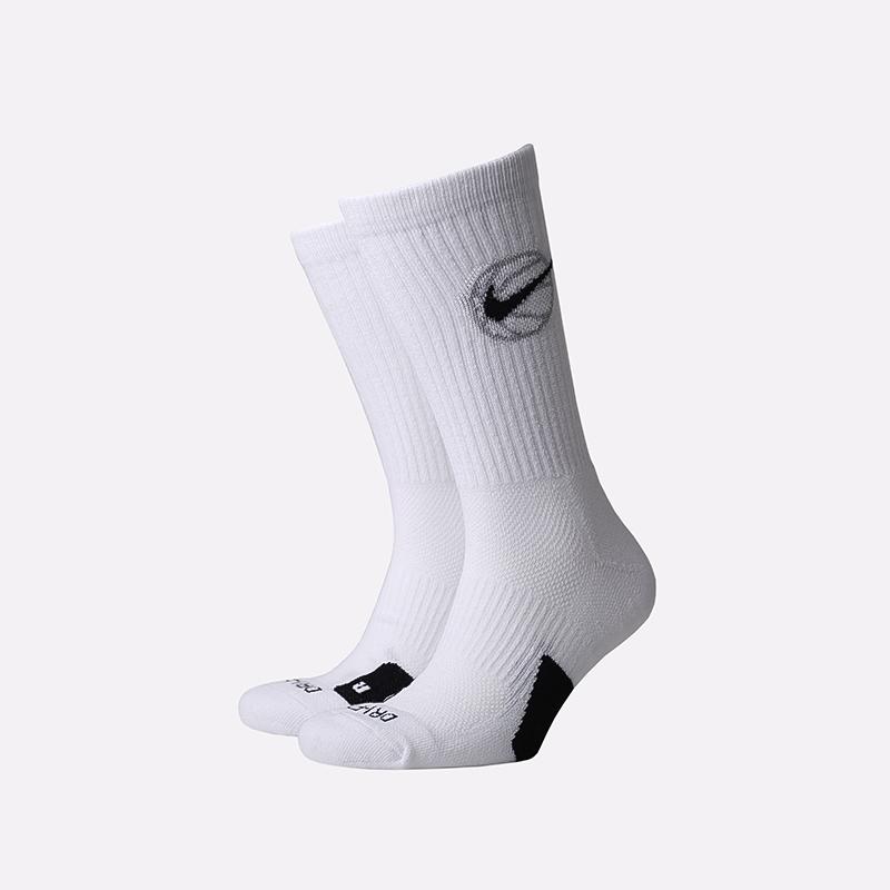 мужские белые  носки nike elite crew x3 DA2123-100 - цена, описание, фото 1