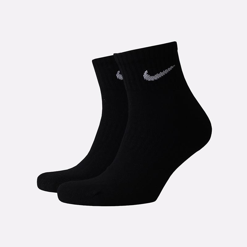 мужские чёрные  носки nike everyday ankle SX7667-010 - цена, описание, фото 1