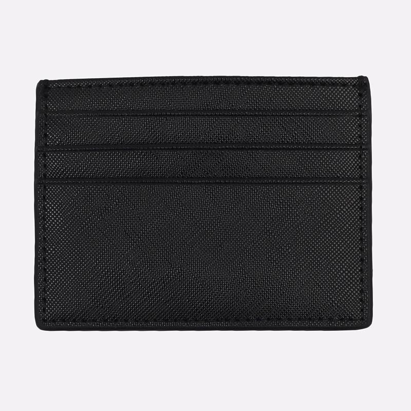 чёрную  визитница carhartt wip coated card holder I026209-black/white - цена, описание, фото 2