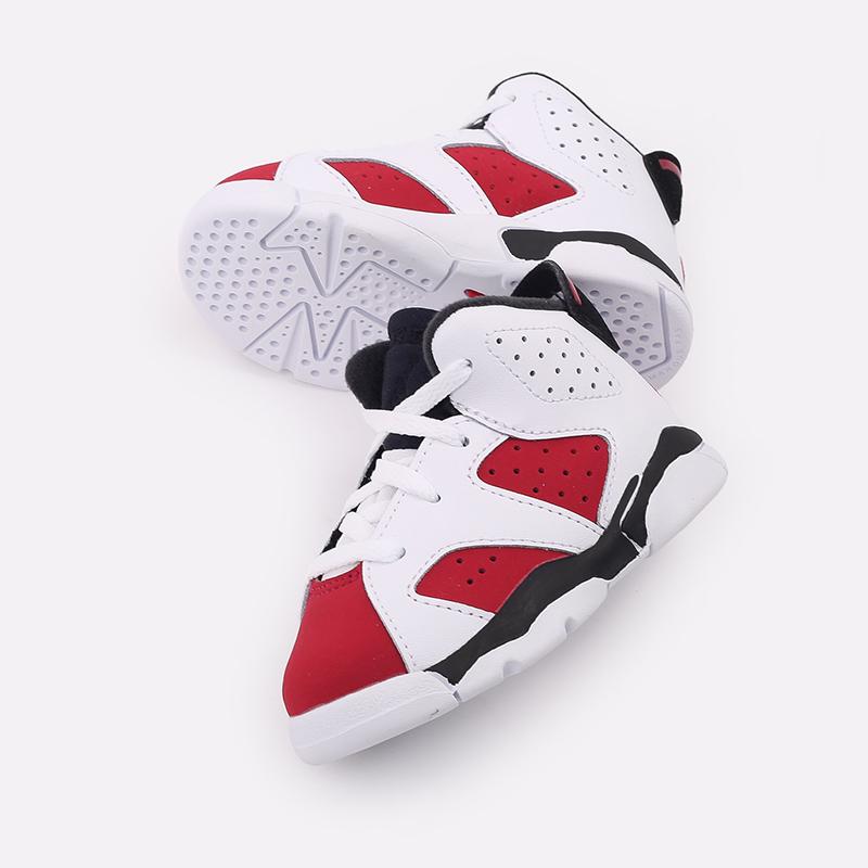 детские белые  кроссовки jordan 6 retro (td) 384667-106 - цена, описание, фото 4