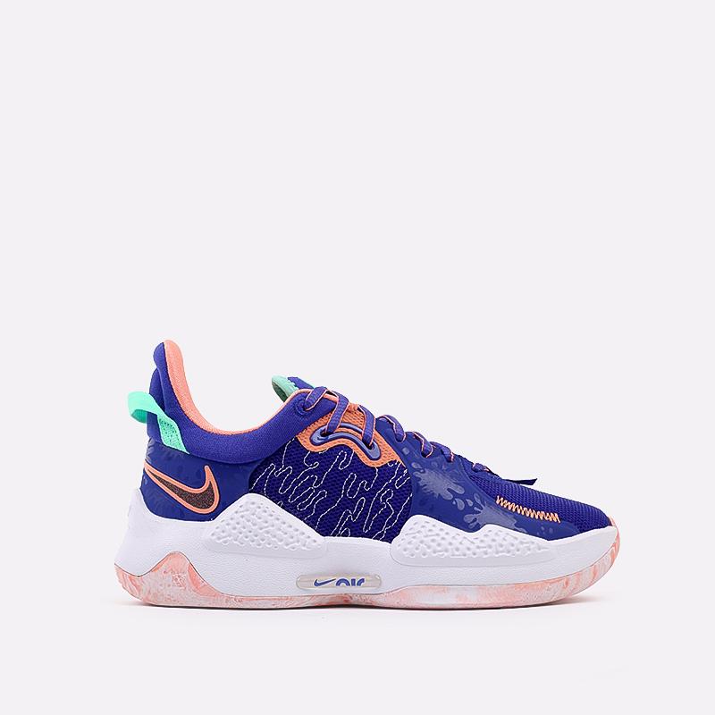 синие  кроссовки nike pg 5 CW3143-400 - цена, описание, фото 1