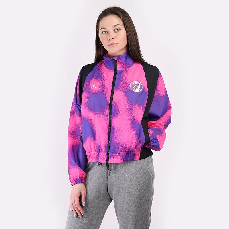 женскую розовую  куртку jordan paris saint-germain women's warm-up jacket CZ7503-510 - цена, описание, фото 1