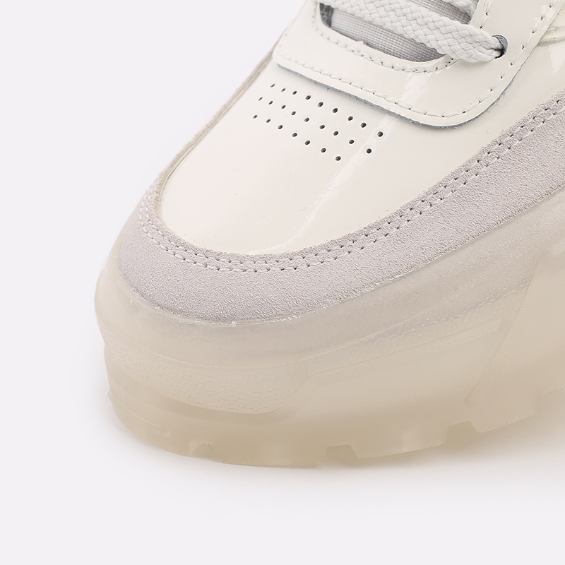 женские бежевые  кроссовки reebok club c x cardi b H01012 - цена, описание, фото 5