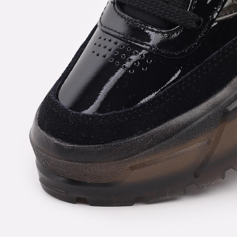 женские чёрные  кроссовки reebok club c x cardi b H01009 - цена, описание, фото 6