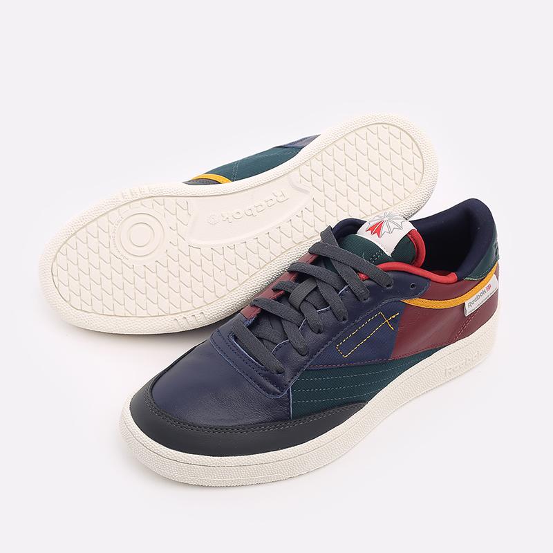 мужские разноцветные  кроссовки reebok club c 85 FY7499 - цена, описание, фото 4