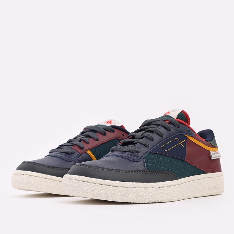 мужские разноцветные  кроссовки reebok club c 85 FY7499 - цена, описание, фото 2