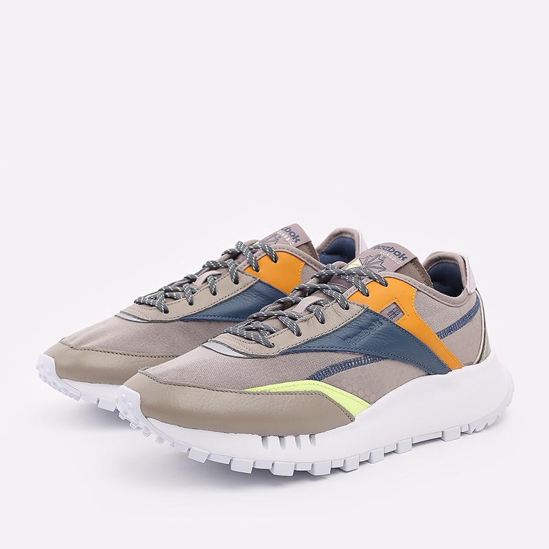 мужские бежевые  кроссовки reebok cl legacy pure FZ2922 - цена, описание, фото 2