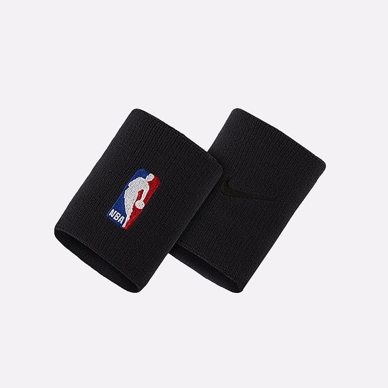 черные  напульсники nike wristband nba NKN03001 - цена, описание, фото 1