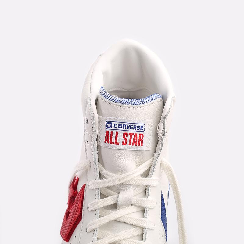 мужские белые  кеды converse pro leather hi 170240 - цена, описание, фото 6