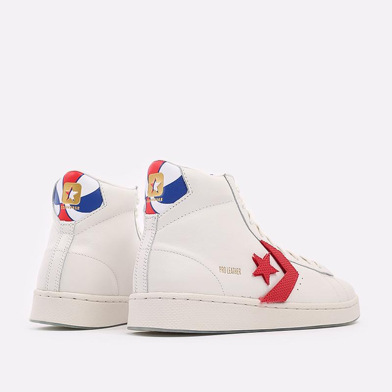 мужские белые  кеды converse pro leather hi 170240 - цена, описание, фото 3