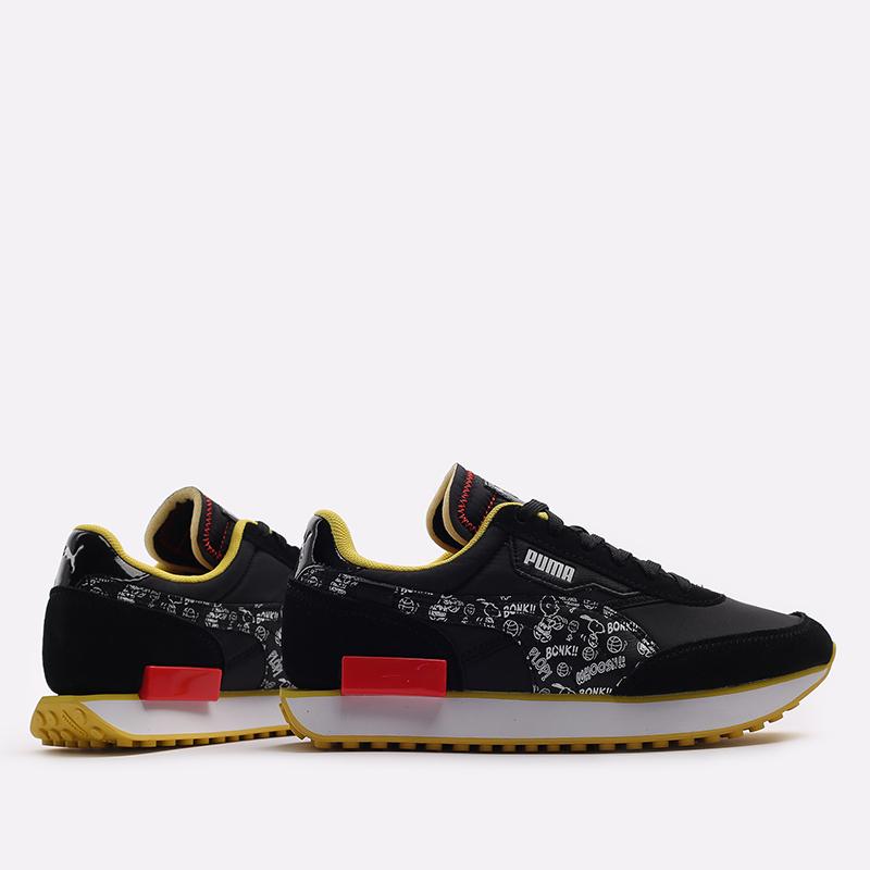 чёрные  кроссовки puma future rider x peanuts 38048301 - цена, описание, фото 2
