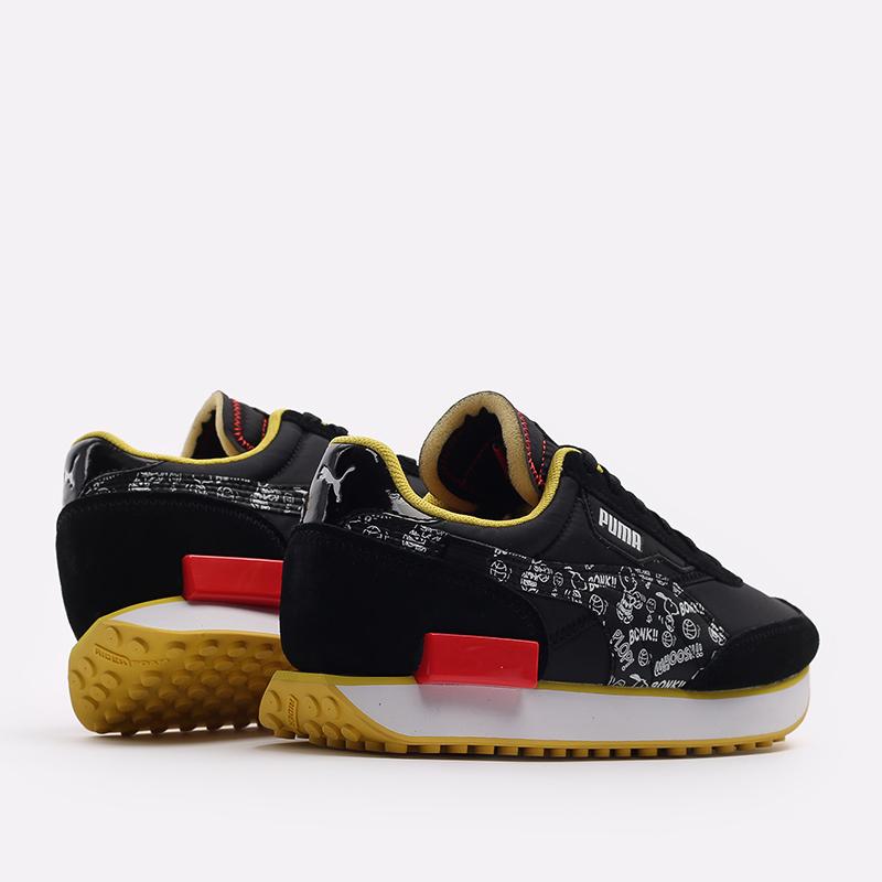 чёрные  кроссовки puma future rider x peanuts 38048301 - цена, описание, фото 4
